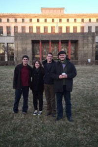 Victor, Rachel, Jeff, and Matthew exploring Detroit