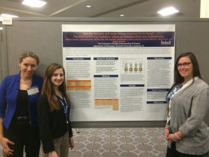 Jo, Julia, and Melissa at the Social Science poster session